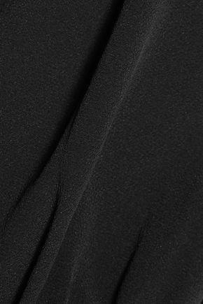 DEREK LAM 10 CROSBY Pleated silk-blend crepe blouse