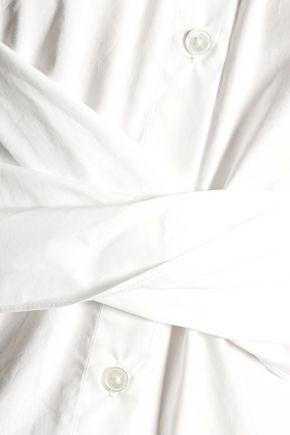 10 CROSBY DEREK LAM Gathered cotton-blend top