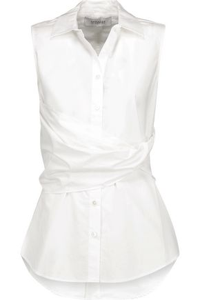 10 CROSBY DEREK LAM Gathered cotton-blend top