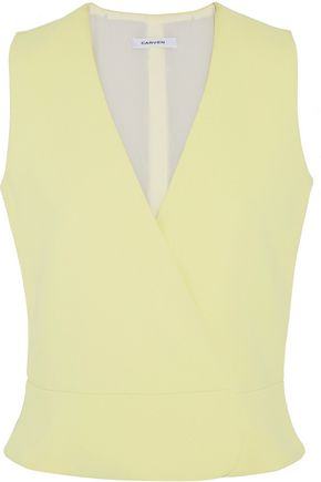 CARVEN Wrap-effect crepe top