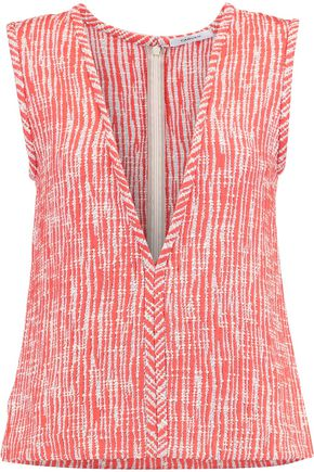 CARVEN Cotton-blend tweed top