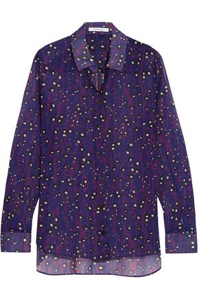 CARVEN Printed crepe de chine shirt