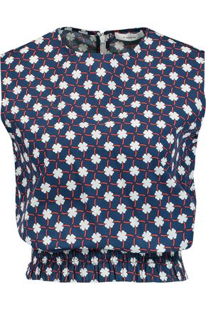 CARVEN Printed cotton-poplin top