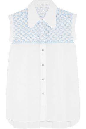 CARVEN Broderie anglaise cotton-voile top
