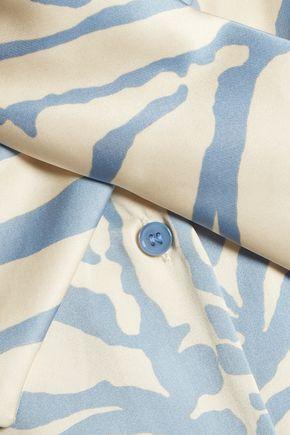 CARVEN Printed silk-blend satin top
