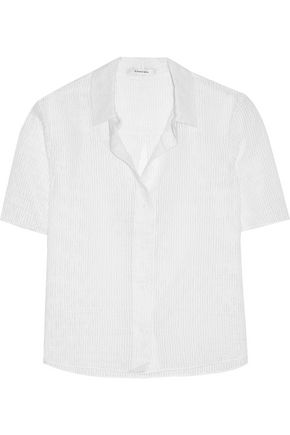 CARVEN Cotton-blend seersucker shirt