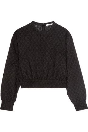 CARVEN Cotton-blend bouclé top