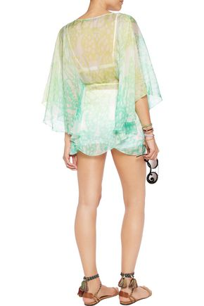 MATTHEW WILLIAMSON Printed silk-chiffon kaftan