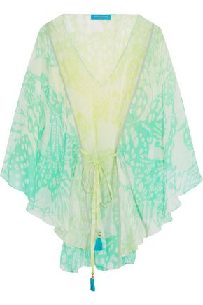 MATTHEW WILLIAMSON Waterfall printed silk-chiffon kaftan