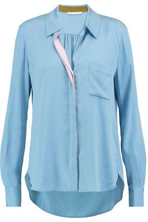 DIANE VON FURSTENBERG Carter silk-blend crepe de chine shirt