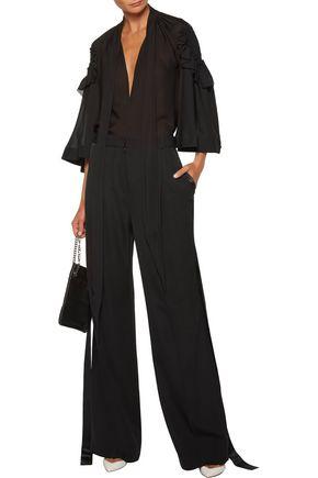 GIVENCHY Pussy-bow ruffled silk-chiffon blouse