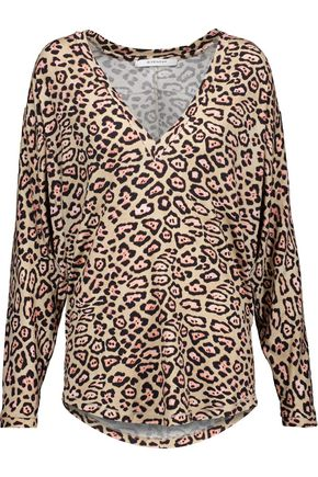 GIVENCHY Leopard-print jersey top