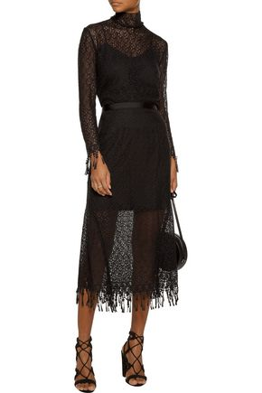 SALONI Mia cotton corded-lace turtleneck top