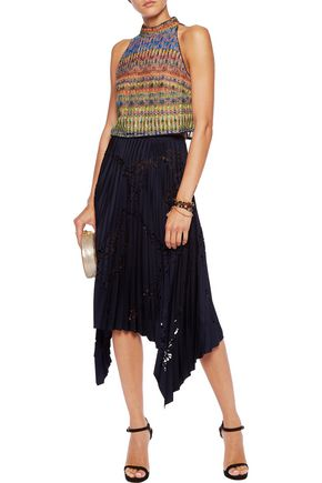 SALONI Bianca crocheted cropped top