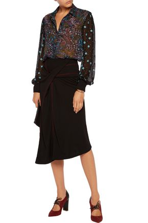 SALONI Laura printed chiffon blouse