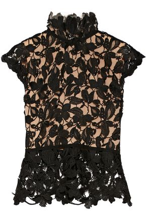 REEM ACRA New York Guipure lace top