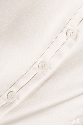 ZAC POSEN Silk-charmeuse shirt