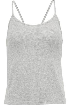 HAUTE HIPPIE Ribbed stretch-knit tank