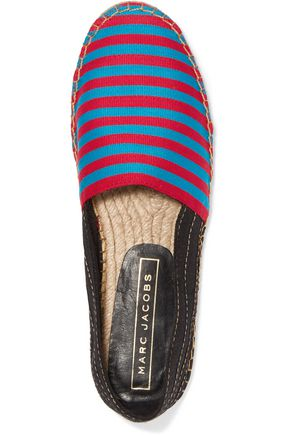 MARC JACOBS Sienna striped canvas espadrilles