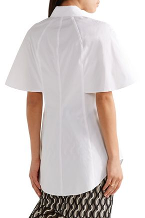 LELA ROSE Embellished cotton poplin shirt