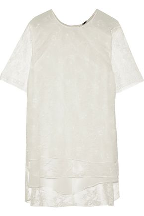 ADAM LIPPES Chantilly lace top