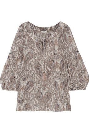 JOIE Haiku printed silk-chiffon top