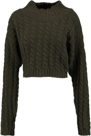 VIVIENNE WESTWOOD ANGLOMANIA Cable-knit wool-blend sweater