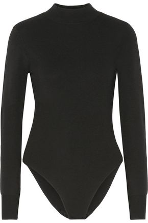 A.L.C. Tota cutout stretch-merino wool turtleneck bodysuit