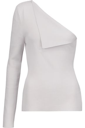 DION LEE One-shoulder stretch-knit top