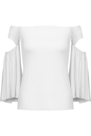 BAILEY 44 Bell of the Ball off-the-shoulder cutout stretch-jersey top