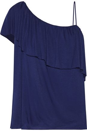 BAILEY 44 On The Town one-shoulder layered stretch-jersey top