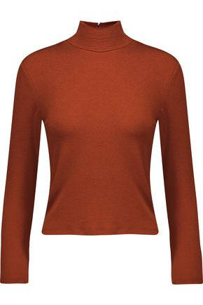 ALICE + OLIVIA Garrison stretch-knit turtleneck top