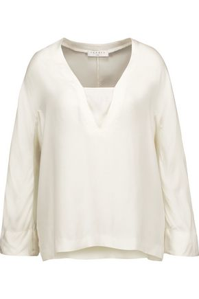 SANDRO Paris Preppy twill top
