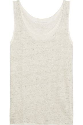 MAJESTIC Layered linen tank