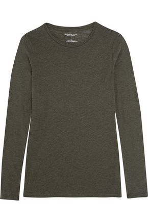 MAJESTIC Cotton and cashmere-blend jersey top