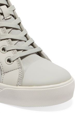 DKNY Cindy rubber-trimmed canvas wedge sneakers