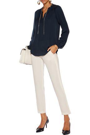 MICHAEL MICHAEL KORS Embellished silk-crepe blouse