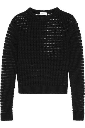 DKNY Open-knit cotton sweater