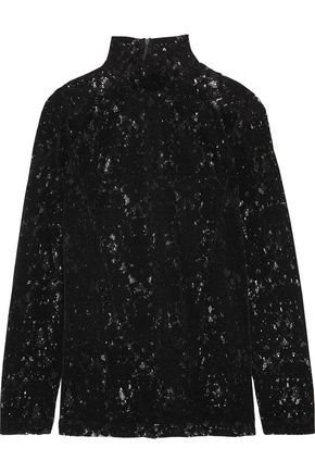 DKNY Velvet-lace top