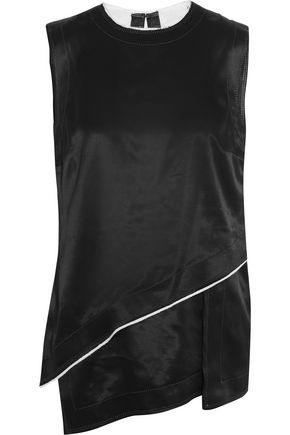 DKNY Layered satin top