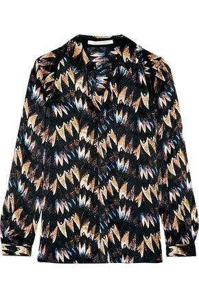 DIANE VON FURSTENBERG Chrissie printed devoré-silk shirt