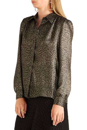 VANESSA SEWARD Albert silk-blend lamé blouse