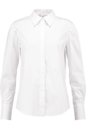 IRIS AND INK Agatha cotton-blend poplin shirt