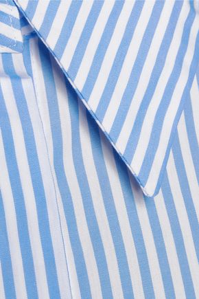 IRIS & INK Striped cotton-blend poplin shirt