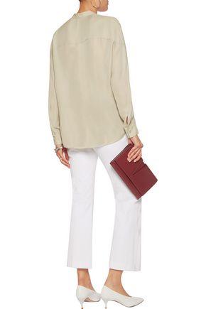 VINCE. Silk crepe de chine blouse