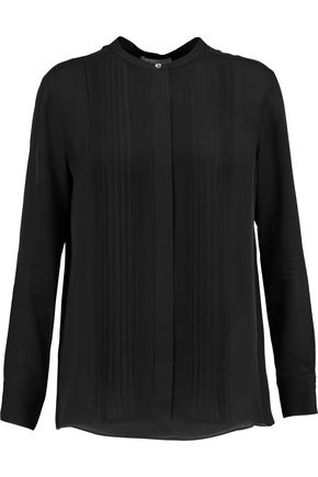 VINCE. Silk-crepe top