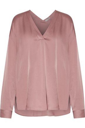 VINCE. Silk-blend satin blouse