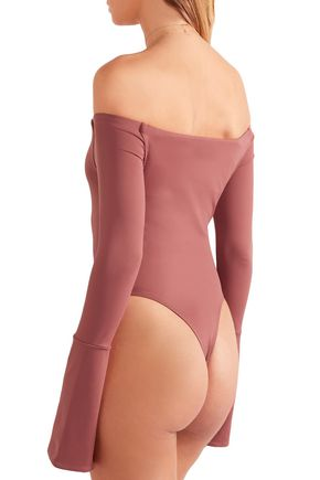 ALIX Baxter off-the-shoulder stretch-jersey bodysuit