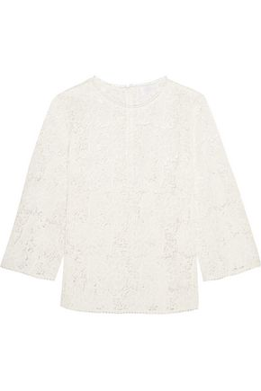 ZIMMERMANN Aerial guipure cotton-lace top