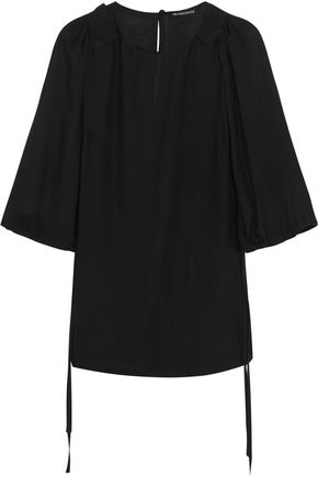 ANN DEMEULEMEESTER Pleated voile top